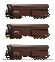 3 piece set self-unloading hopper wagons, ÖBB, epoch VI