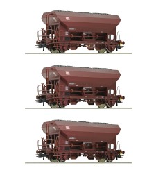 3 piece set self unloading hopper wagons, DB AG, epoch V