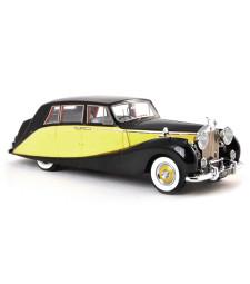 Rolls Royce silver Wraith Empress by Hooper, black-yellow, RHD, 1956