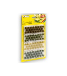 Grass Tufts muted colours, (104 pieces, each 6 mm)