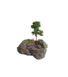 "Diorama Kit ""Rocky Mountain"" approx 18 x 15 cm, 16 cm high"