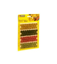 """Grass Tufts XL """"blossom"""" red, yellow, light and dark green (104 pieces, 9 mm)"""