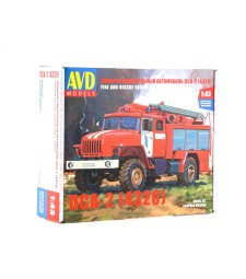 1:43 Fire and Rescue truck PSA-2 (URAL-4320), Die-Cast Model Kit