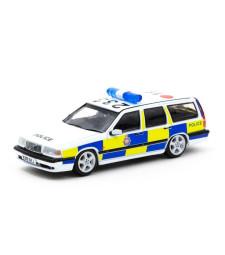 Volvo 850 Estate Police Car, White/Yellow/Blue