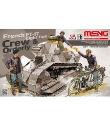 1:35 FRENCH FT-17 LIGHT TANK CREW & ORDERLY