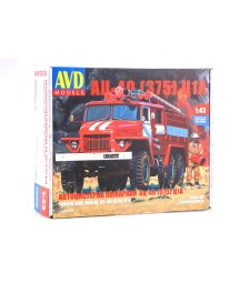 Fire Engine AC-40(URAL-375) C1A - Die-cast Model Kit
