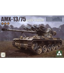 1:35 French Light Tank AMX-13/75 with SS-11 ATGM 2 in 1