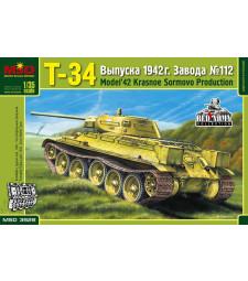 "1:35 Т-34 Russian Medium Tank, ""Krasnoye Sormovo"" Plant No.112, Model 1942"