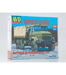 KRAZ-260 flatbed truck (later version) - Die-cast Model Kit
