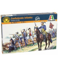 1:72 CONFEDERATE TROOPS - 50 figures
