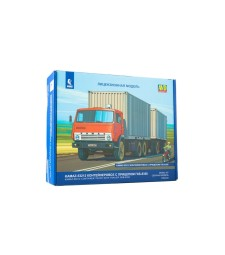 KAMAZ-53212 container truck with container trailer GBK-8350 - Die-cast Model Kit