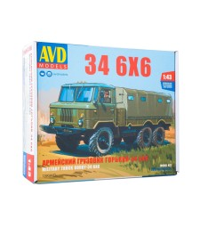 GAZ-34 6x6 flatbed truck with tent - Die-cast Model Kit