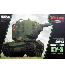 Soviet Heavy Tank KV-2 (cartoon model) - snap-fit