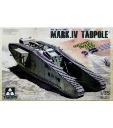 1:35 WWI Heavy Battle Tank Mark IV Male Tadpole w/Rear mortar