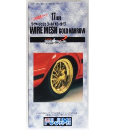 1:24 TW-20 17inch Wire Mesh Gold Narrow Wheel