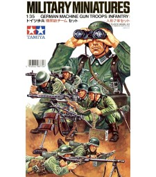 1:35 German Machine Gun Troops - 7 figures