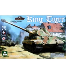 1:35 WWII German Heavy Tank Sd.Kfz.182 King Tiger Porsche Turret w/interior [without Zimmerit]