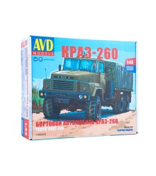 KRAZ-260 flatbed truck (early version) - Die-cast Model Kit
