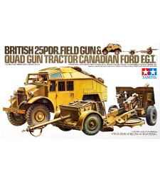 1:35 British 25 PDR. Gun & Quad Tractor - 1 figure