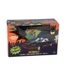 1:25 1966 Batmobile Snap Together Model Kit and painted figures