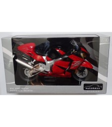 1:12 DIECAST MOTORCYCLE: SUZUKI GSX1300R HAYABUSA (RED)