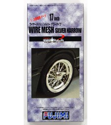 1:24 TW-13 17inch Wire Mesh Silver Narrow Wheel