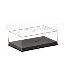 FORMULA 1 CLEAR COVER AND BASE PLATE 1/43 STANDARD MINICHAMPS (12,0 cm x 7,2 cm x 3,9 cm)