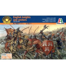 1:72 100 YEARS WAR-BRITISH WARRIORS - 26 figures