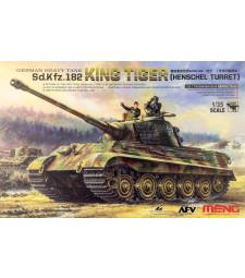 1:35 GERMAN HEAVY TANK Sonderkraftfahrzeug 182 KING TIGER (HENSCHEL TURRET) with 2 figures