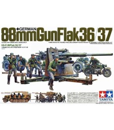 1:35 German 88mm Gun Flak 36/37 - 10 figures