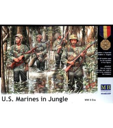 1:35 U.S. Marines in Jungle, WW II era - 4 figures