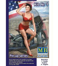 1:24 Pin-up series, Kit No. 1. Marylin - 1 figure