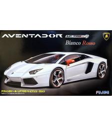 1:24 RS-6 Lamborghini Aventador Bianco Rosso with p/e