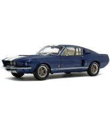 SHELBY MUSTANG GT500 - NIGHTMIST BLUE/ LIGHT GREY STRIPES-1967