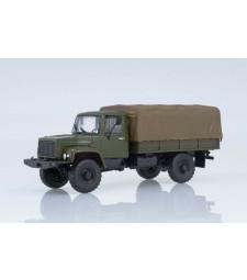 GAZ-3308 flatbed truck with tent /khaki/