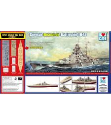 1:700 Top Grade German Bismarck Battleship