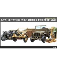1:72 LIGHT VEHICLES OF ALLIED & AXIS WWII