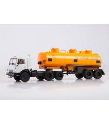 KAMAZ-54112 tractor truck with Tanker semitrailer NEFAZ-96742 /white-orange/