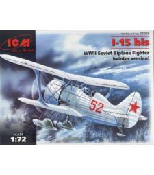 1:72 I-15 bis, WWII Soviet Biplane Fighter (winter version)