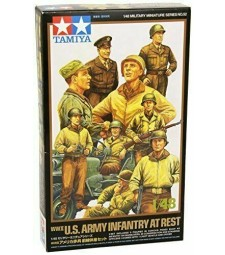 1:48 WWII U.S. Army Infantry At Rest with Jeep