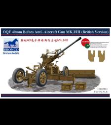 1:35 OQF 40mm Bofors Anti-aircraft Gun Mk.I/III (British Version)