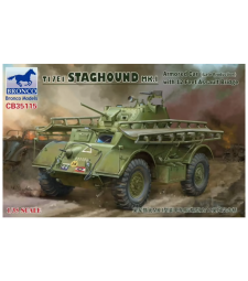 1:35 T17E1 Staghound MK.1 (Late Production) with 12 feet Assault Bridge