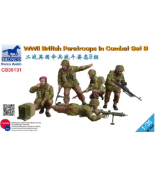 1:35 WWII British Paratroops In Combat Set B