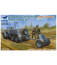 1:35 Krupp Protze L 2 H 143 Kfz.69 (Late version) +3.7cm Pak 36
