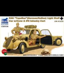 """1:35 DAK """"Topolino""""(German/Italian)Light Staff Car w/Crew & IF8 Infa"""