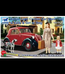 1:35 Italian Light Civilian Car (Hard Top) w/Lady & Girl & Dog