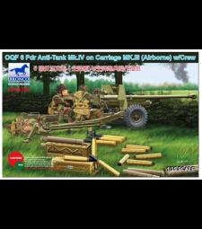 1:35 OQF 6 Pdr Anti-Tank Mk.IV on Carriage Mk.III (Airborne) w/Crew