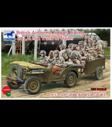 1:35 British Airborne Troops Riding In 1/4 Ton Truck & Trailer