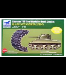 1:35 Sherman T62 Steel Workable Track Link Set