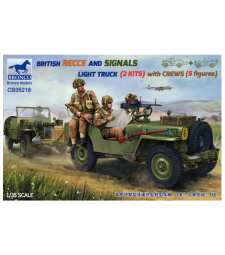 1:35 BRITISH RECCE AND SIGNALS LIGHT TRUCK  (2 KITS ) with